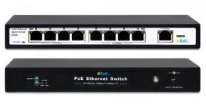 ESOL-SO8PoE-P120 - Switch PoE 8-Port 10/100Mbps IEEE 802.3af/802.3at  + Extra 1-Port 10/100Mbps UPLINK RJ-45
