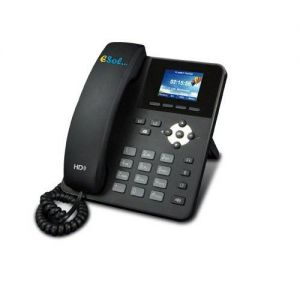 "Esol -  TVOIP-BUSINESS - Telefon VOIP Business LCD 2.4"" Color PoE HD hands-free speaker 2 Linii SIP"