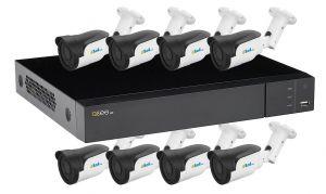 QTH98-8ES6/60   Kit supraveghere video - 1xDVR QTH98 + 8x ES6/60