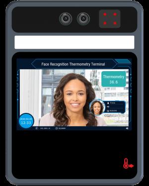 Q-See - Sistem Testare 5 Inch - Detecție Temperatură Încheietură Mână  & Recunoaștere Facială & Detecție Mască & Control Acces